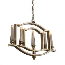 artcraft 5 light silver leaf chandelier