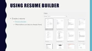 resumes and cover letters what is a resume type of genre writing 12 using resume builder create a resume resume builderresume builder word there are lots to choose from