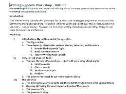 Speech Outline Format How To Outline A Speech Initial Thoughts