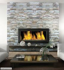 fireplace inspiration ledgestone wall floating mantel under wall mounted