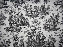 waverly country life toile black