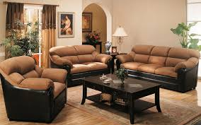 For Decorating The Living Room Interior Comfortable Beige Sofa With Black Coffee Table On Feizy