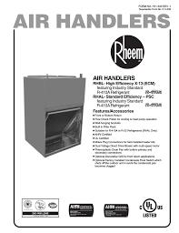 Rheem Front Or Bottom Return Slab Coil With Psc Motor