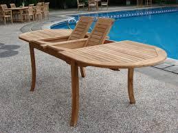 wood patio dining furniture. Modren Furniture Amazoncom  GradeA Teak Wood Large Double Extension 94 On Patio Dining Furniture