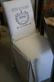 reloved rubbish stenciled slipcovers for parsons chairs and stencil giveaway