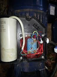 correct wiring of 1 phase 220v electrical motor