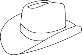 Cowboy Hat Printable Coloring Page Clothing Pinterest Coloring