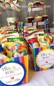 diy birthday party ideas for adults. rainbow birthday party favors (crayons, bubbles, goldfish crackers, lollipop, and diy ideas for adults y