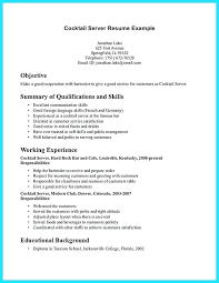 Example Server Resume Unique Server Resume Skills Examples Foodcityme