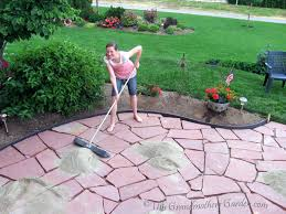 full size of diy flagstone patio over concrete how to make a stone patio without concrete