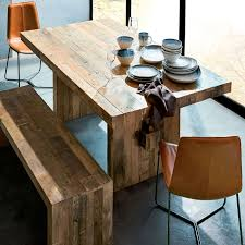 distressed wood dining table in emmerson reclaimed natural west elm ideas