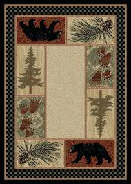cabin area rugs cabin area rugs rustic western lodge wildlife clearance pine cone elk country nature