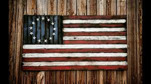 american flag hand made distressed rustic