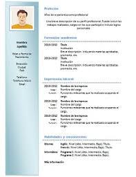 formato curriculo word modelo de curriculo en word para completar gratis