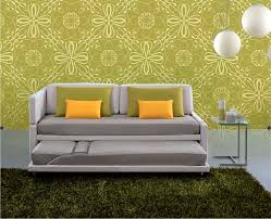 contemporary sofa fabric 2 person with trundle bed
