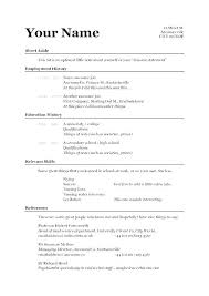 Simple Job Resume Outline Simple Resumes Samples Examples Of Basic Resumes Killer Resume