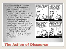 the discursively structured argumentative essay source orange  the action of discourse the etymology of the word discourse is particularly interesting in this context