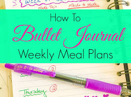 Bullet Journal Meal Planning Ideas - Get Green Be Well