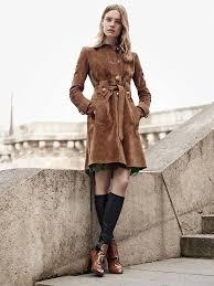 trend alert suede trench coats