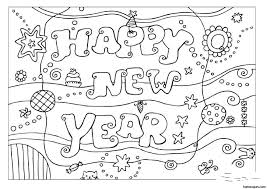 Small Picture New Year Printable Coloring Page Archives gobel coloring page