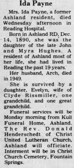 Obituary for Ida Payne - Newspapers.com