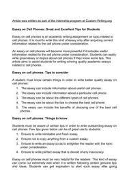 phone essay mobile phone essay