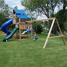 swing set kits for wood playsets that are easy to build in your backyard