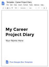 Diary Format Template Career Project Diary How To Document Ux Projects As You Do Them