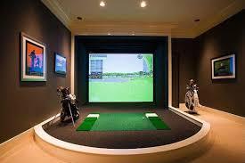 Virtual Golf Mens Game Room Ideas