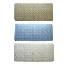 new rubber bath mat bathroom bath non slip square blue beige white 34 x 74cm