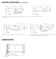 robertshaw products 1397002 040 rm series dimensions and wiring diagram