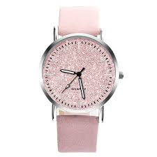 Pink Gorgeous Design Wrist <b>Watch Fashionable</b> Quartz Movement ...