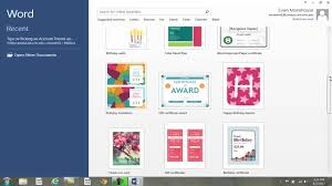 Word 2013 Themes Tips For Picking An Account Theme Background Ms Office Word 2013