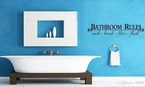 Small Picture Bathroom Rules Wash Brush Floss Flush Art Home Wall Decor Decals