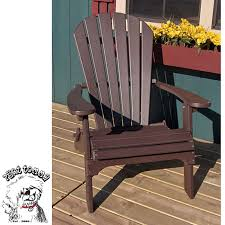 forever phat tommy weather resistant recycled poly folding adirondack chair espresso brown