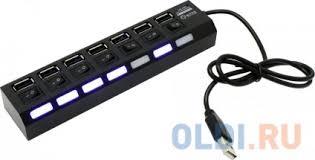 Концентратор <b>5bites HB27</b>-203PBK 7*USB2.0, блок питания 5В ...
