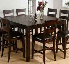 Counter Height Kitchen Table Sets High Dining Style Island Black