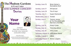 hudson gardens 2018 summer concert series front this postcard design is not available