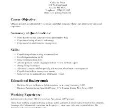 Executive Assistant Career Objective Resume Objectives For Administrative Assistants Examples Resume