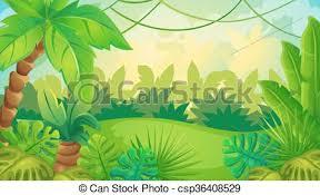 jungle background clipart. Brilliant Clipart Cartoon Jungle Game Background  Csp36408529 And Clipart