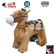 Rechargeable 6V/7A Plush Animal Ride On Toy for Kids (3 ~ 7 Years Old) With Safety Belt Horse - Walmart.com