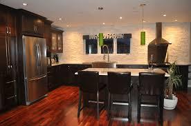 Pot Lights For Kitchen Dark Kitchen Cabinets White Granite With Tigerwood Flooring