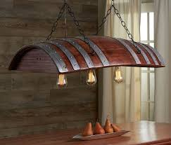 industrial chic lighting. Old French Oak Wine Barrel Turned Into Industrial Chic Light Lighting W