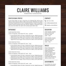 Microsoft Word Resume Template Download Beautiful Resume Cv Template