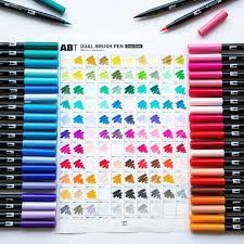 Tombow Dual Brush Pen Blank Color Chart Tombow Abt Dual Brush Pen