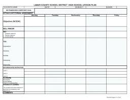 High School Lesson Plan Template Mesmerizing Best Lesson Plan Template Secondary Math Image Collection