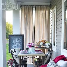 Diy Drop Cloth Curtains Make Outdoor Drop Cloth Drapes A Porch Warming Party Idea The