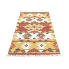 mustard yellow rug. Anatolian Durie Kilim Flat Weave Hand-Knotted Ivory/Honey Brown/Mustard Yellow Area Rug Mustard R