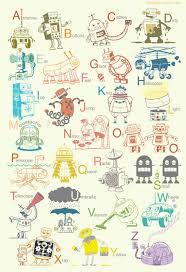 i really like this  on robot nursery wall art with big robot alphabet art print robot poster baby art robot nursery