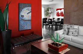 Red And Beige Living Room Paint Design For Living Room Walls Living Room Paint Ideas Accent